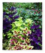 Floral Print 005 Fleece Blanket