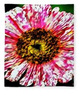 Floral Red And White Painting  Fleece Blanket