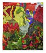 Floral Reef Fleece Blanket