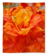 Floral Rhodies Art Prints Orange Rhododendrons Canvas Art Baslee Troutman Fleece Blanket