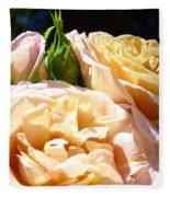 Floral Roses Garden Art Prints Baslee Troutman Fleece Blanket