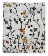 Floral Satin Fleece Blanket