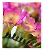 Floral She Sparkles Fleece Blanket