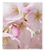 Floral Soft Pink Blossoms Spring Art Baslee Troutman Fleece Blanket