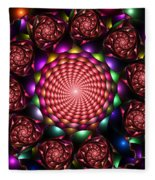 Floral Spiral Fleece Blanket