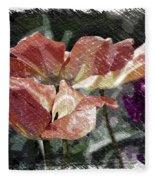 Floral Spring Tulips 2017 Pa 02 Fleece Blanket