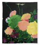 Floral Still Life Fleece Blanket