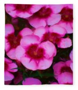 Floral Study In Red And Pink Fleece Blanket