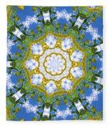 Floral Sun Fleece Blanket