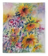 Floral Symphony Fleece Blanket