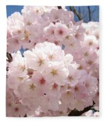 Floral Tree Blossoms Flowers Pink Art Baslee Troutman Fleece Blanket