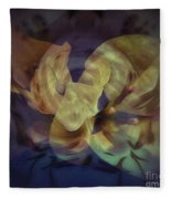 Floral Vortex Fleece Blanket