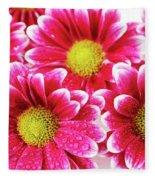 Floral Wallpaper Fleece Blanket