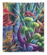 Floral Whirl Fleece Blanket