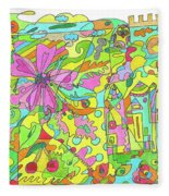 Floral World Fleece Blanket