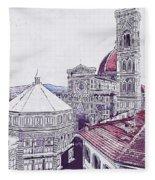Florence - 19 Fleece Blanket