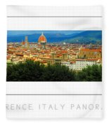 Florence, Italy Panoramic Poster Fleece Blanket