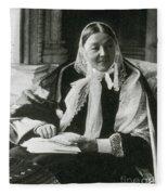 Florence Nightingale, English Nurse Fleece Blanket