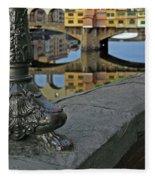 Florence The Old Bridge Fleece Blanket
