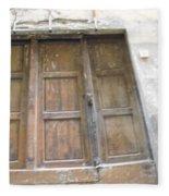 Florentine Door 4 Fleece Blanket