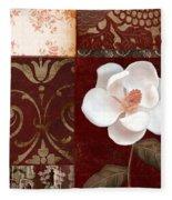 Flores Blancas Square I Fleece Blanket