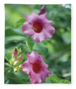 Flores De La Allamanda Fleece Blanket