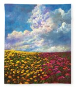 Flores De Mexico Fleece Blanket