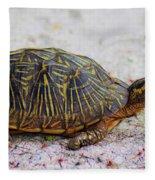 Florida Box Turtle Fleece Blanket