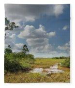 Florida Everglades Fleece Blanket