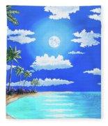 Florida Keys Moon Rise Fleece Blanket