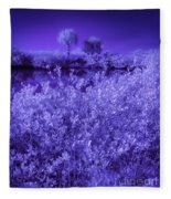 Florida Lagoon In Ir Fleece Blanket