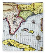 Florida: Map, 1591 Fleece Blanket