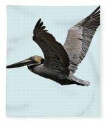 Florida Pelican In Flight Fleece Blanket