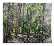 Florida Riverbank  Fleece Blanket