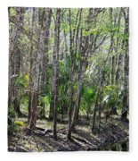 Florida Riverbank  Fleece Blanket