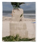 Florida Snow Man Fleece Blanket