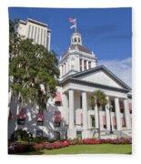Florida State Capitol Building Fleece Blanket