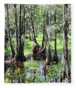 Florida Swamp Fleece Blanket