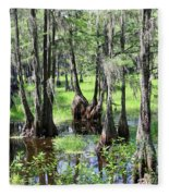 Florida Swamp Fleece Blanket