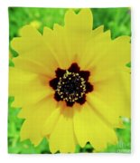 Florida - Yellow - Wildflower Fleece Blanket