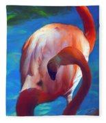 Florida's Flamingo's Fleece Blanket