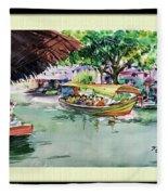 Floting Market Fleece Blanket