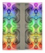 Flow - Stereogram Fleece Blanket