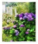 Flower - Hydrangea - Lovely Hydrangea  Fleece Blanket