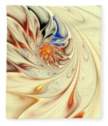 Flower Abstract Light Fleece Blanket