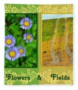 Flower And Fields Fleece Blanket