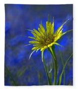Flower And Flax Fleece Blanket
