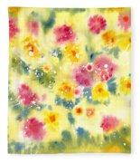 Flower Bed Fleece Blanket