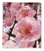 Flower Blossoms Art Spring Trees Pink Blossom Baslee Troutman Fleece Blanket