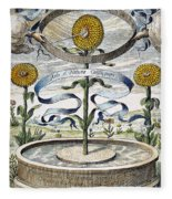Flower Clock, 1643 Fleece Blanket